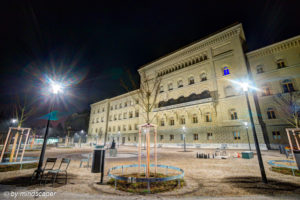 Bundesterrace and Bundeshaus - Berne by Night in HDR