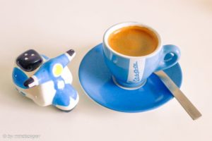 Espresso Vespa Blue - Coffee Time